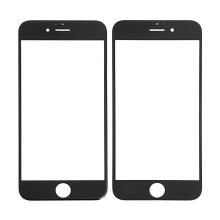 Náhradní přední sklo pro Apple iPhone 6S - černý rámeček - kvalita A