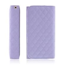 Pouzdro / peněženka pro Apple iPhone - prostor pro umístění platební karty - fialové