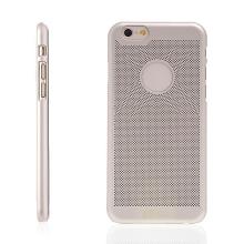 Plastový kryt LOOPEE pro Apple iPhone 6 / 6S s výřezem pro logo - děrovaný - zlatý