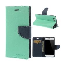 Pouzdro Mercury pro Apple iPhone 6 / 6S - stojánek a prostor pro platební karty - tyrkysovo-modré