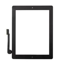 Přední dotykové sklo (touch screen) pro Apple iPad 4.gen. - osazený - černý rámeček - kvalita A+