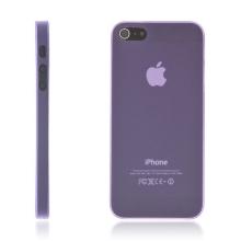 Kryt pro Apple iPhone 5 / 5S / SE - matný - plastový - tenký 0,5 mm - fialový