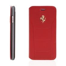Pouzdro Ferrari 488 pro Apple iPhone 6 / 6S - prostor na doklady - červené