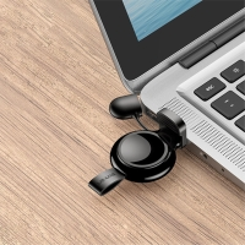 Bezdrátová nabíječka USAMS pro Apple Watch - mini provedení - plast / silikon - černá