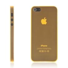 Kryt pro Apple iPhone 5 / 5S / SE - matný - plastový - tenký 0,5 mm - oranžový