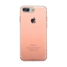 Kryt Baseus pro Apple iPhone 7 Plus / 8 Plus gumový / antiprachové záslepky - Rose Gold růžový průhledný