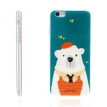 Kryt LOFTER pro Apple iPhone 6 / 6S gumový - medvěd
