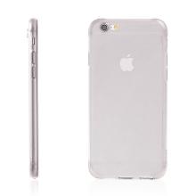 Kryt HOCO pro Apple iPhone 6 / 6S - antiprachová záslepka - tenký gumový průhledný - černě probarvený