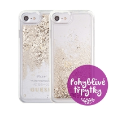 Kryt GUESS pro Apple iPhone 6 / 6S / 7 / 8 - plastový - glitter / zlaté třpytky