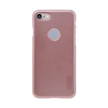 Kryt Nillkin pro Apple iPhone 7 / 8 plastový / jemná povrchová struktura, výřez pro logo - růžově zlatý (Rose Gold) + ochranná f
