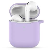 Pouzdro / obal pro Apple AirPods 2019 s bezdrátovým pouzdrem - silikonové - fialové