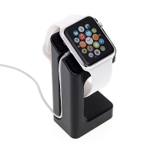 Plastový nabíjecí stojánek pro Apple Watch 38mm / 42mm Series 1 / 2 / 3 - černý