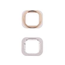 Kovový rámeček tlačítka Home Button pro Apple iPhone 6 / 6 Plus - zlatý (Gold) - kvalita A+