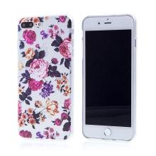 Kryt pro Apple iPhone 7 Plus / 8 Plus - gumový - průhledný / růže