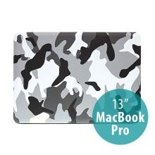 Plastový obal ENKAY pro Apple MacBook Pro 13 - maskáč - šedý