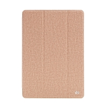 Pouzdro pro Apple iPad Air 1 / 9,7 (2017-2018) - látková textura / gumové - hnědé