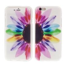 Pouzdro pro Apple iPhone 6 / 6S flipové gumové - barevná slunečnice