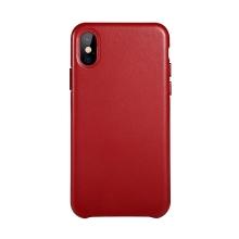 Kryt BENKS pro Apple iPhone X - kožený - červený
