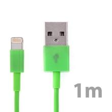 Synchronizační a nabíjecí kabel Lightning pro Apple iPhone / iPad / iPod - zelený - 1m