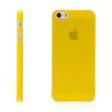 Kryt pro Apple iPhone 5 / 5S / SE - matný - plastový - tenký 0,5 mm - žlutý