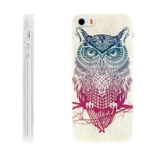 Kryt / obal pro Apple iPhone 5 / 5S / SE - gumový - ethno sova