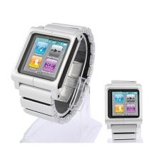 Hliníko-silikonové hodinkové pouzdro pro iPod nano 6.gen. - stříbrné