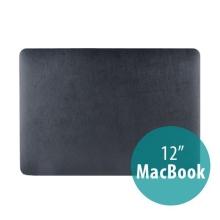 Plastový obal / kryt pro Apple MacBook 12 Retina (rok 2015) - povrch umělá kůže - černý