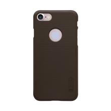 Kryt Nillkin pro Apple iPhone 7 / 8 plastový / jemná povrchová struktura, výřez pro logo - hnědý + ochranná fólie