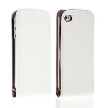 Pouzdro / Kryt pro iPhone 4 / 4S vyklápěcí - magnetické zavírání - bílé