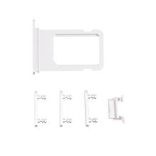 Rámeček / šuplík na Nano SIM + boční tlačítka pro Apple iPhone 7 - stříbrný - kvalita A+