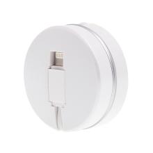 Synchronizační a nabíjecí kabel Lightning pro Apple iPhone/ iPad / iPod - navíjecí - plochý - bílý