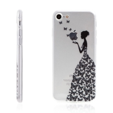 Kryt pro Apple iPhone 7 / 8 - gumový - dívka & motýli