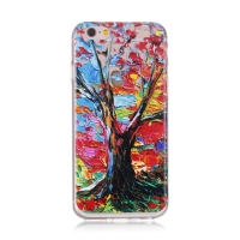 Kryt pro Apple iPhone 6 / 6S gumový - průhledný - strom