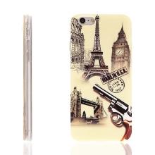 Gumový kryt pro Apple iPhone 6 / 6S - světové památky - lesklý povrch