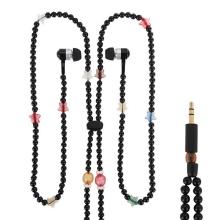 Sluchátka / náhrdelník korálková černá