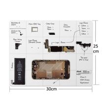 Magnetická podložka pro práci s drobnými kovovými díly (30x25cm) + černý fix pro možnost psaní na podložku