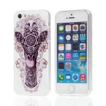 Kryt / obal pro Apple iPhone 5 / 5S / SE - gumový - ethno žirafa
