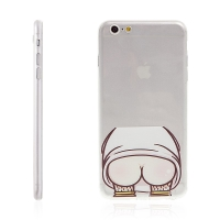 Kryt pro Apple iPhone 6 Plus / 6S Plus gumový - ochrana čočky fotoaparátu a antiprachová záslepka - vystrčený zadek