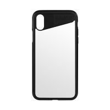 Kryt BENKS pro Apple iPhone X - plastový / gumový - černý / průhledný