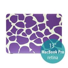 Plastový obal pro Apple MacBook Pro 13 Retina (model A1425, A1502) - fialové tvary