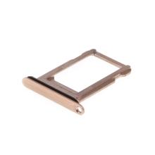 Rámeček / šuplík na Nano SIM pro Apple iPhone Xs - zlatý (Gold) - kvalita A+