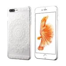 Kryt pro Apple iPhone 7 Plus / 8 Plus - plastový - průhledný / květinová mandala