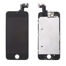 Osazená přední čast (LCD panel, touch screen digitizér atd.) pro Apple iPhone 5S / SE - černý - kvalita A