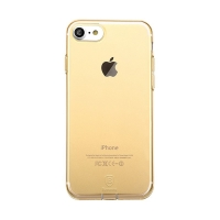 Kryt Baseus pro Apple iPhone 7 / 8 gumový / antiprachové záslepky - zlatý průhledný