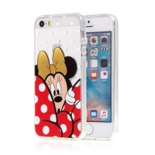 Kryt pro Apple iPhone 5 / 5S / SE - Minnie - gumový