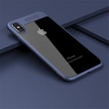 Kryt IPAKY pro Apple iPhone X - plastový / gumový - průhledný / tmavě modrý