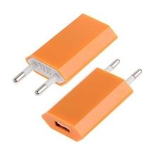 Mini USB nabíječka / adaptér pro Apple iPhone / iPod (1A) - oranžová