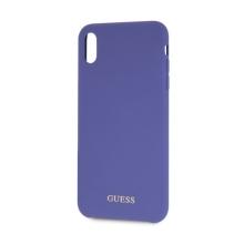 Kryt GUESS Silicone pro Apple iPhone Xr - silikonový - modrý