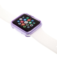 Gumový kryt pro Apple Watch 38mm - fialový