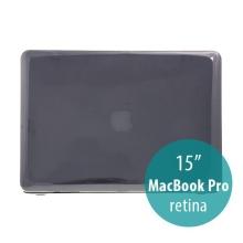 Tenký ochranný plastový obal pro Apple MacBook Pro 15.4 Retina (model A1398) - lesklý - černý
